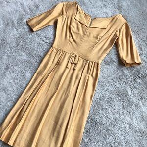Harry Keiser Vintage Yellow Dress